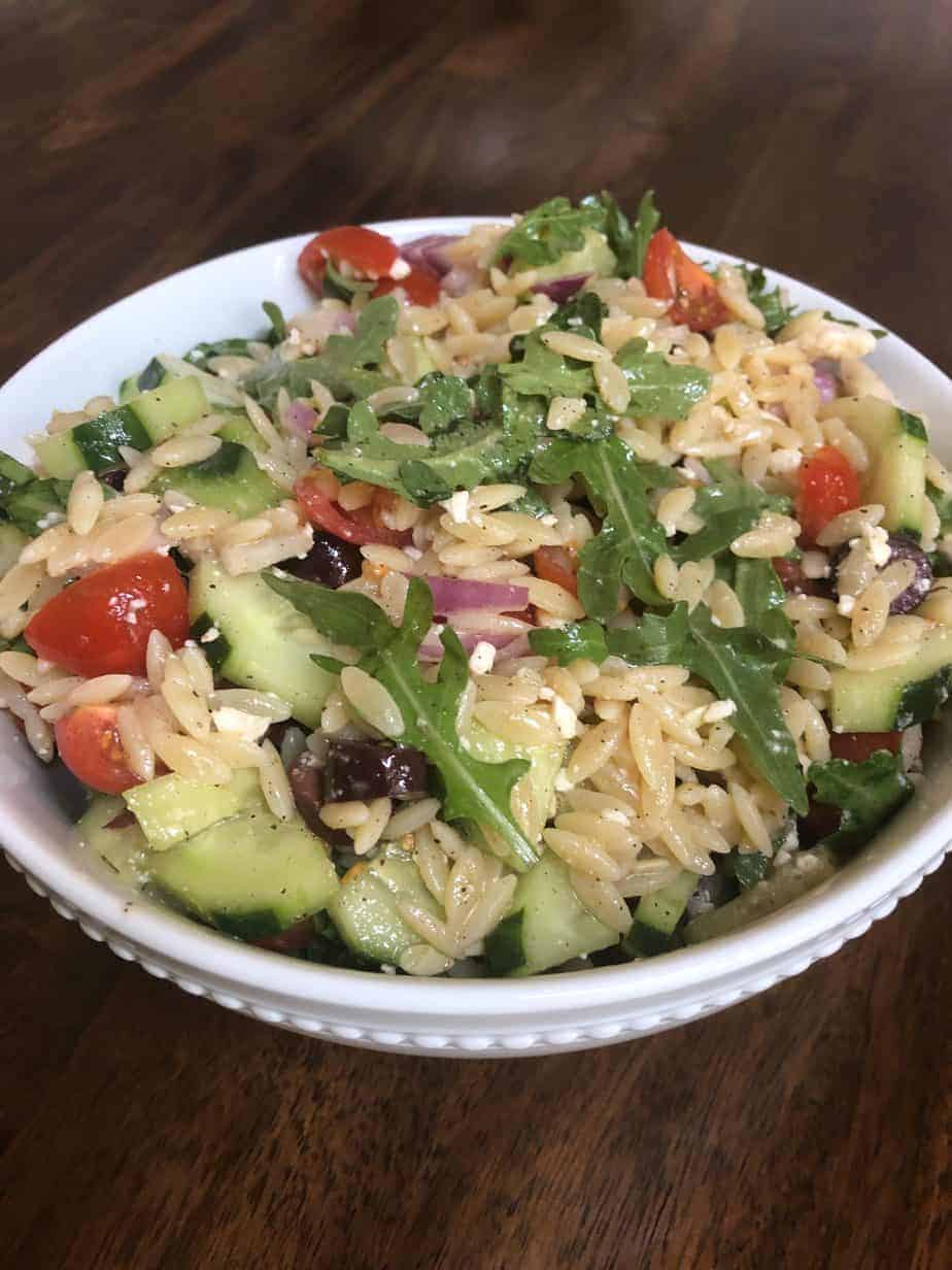 Simple Mediterranean Orzo Salad