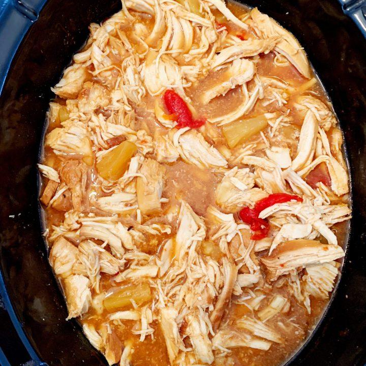 Hawaiian Chicken cooked in crock pot