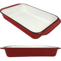 2.9 Qt Enameled Cast Iron Rectangular Roaster