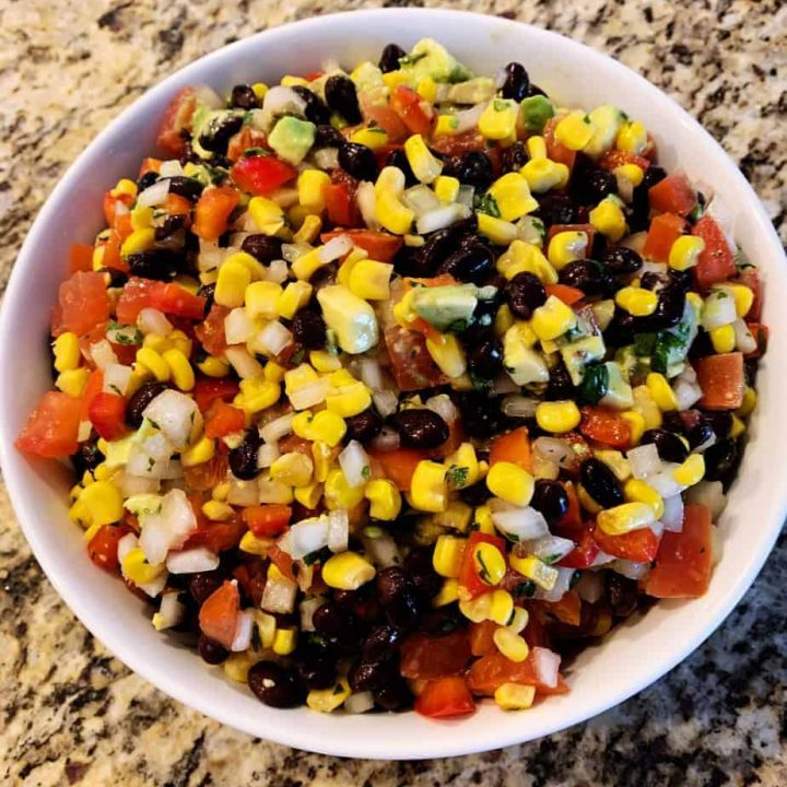 Avocado Black Bean and Corn Salsa