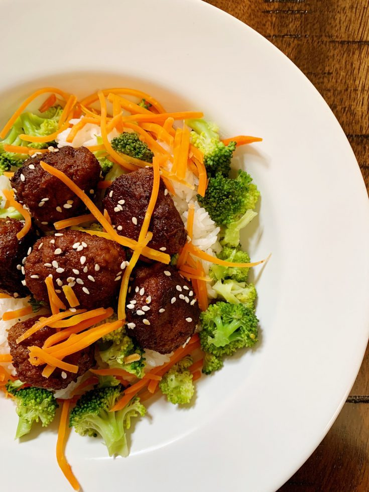 Turkey Bulgogi Meatballs