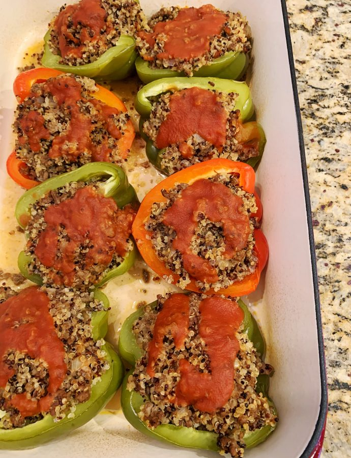 Beef and Quinoa Stuffed Peppers