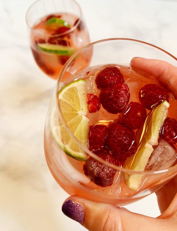 Raspberry Lime Rosé Sangria