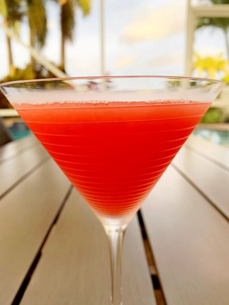 easy watermelon martini