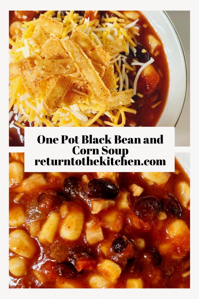 One Pot Black Bean and Corn Soup