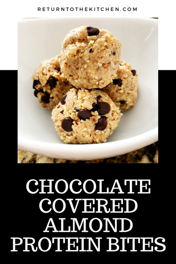 chocolate covered almond protein bites