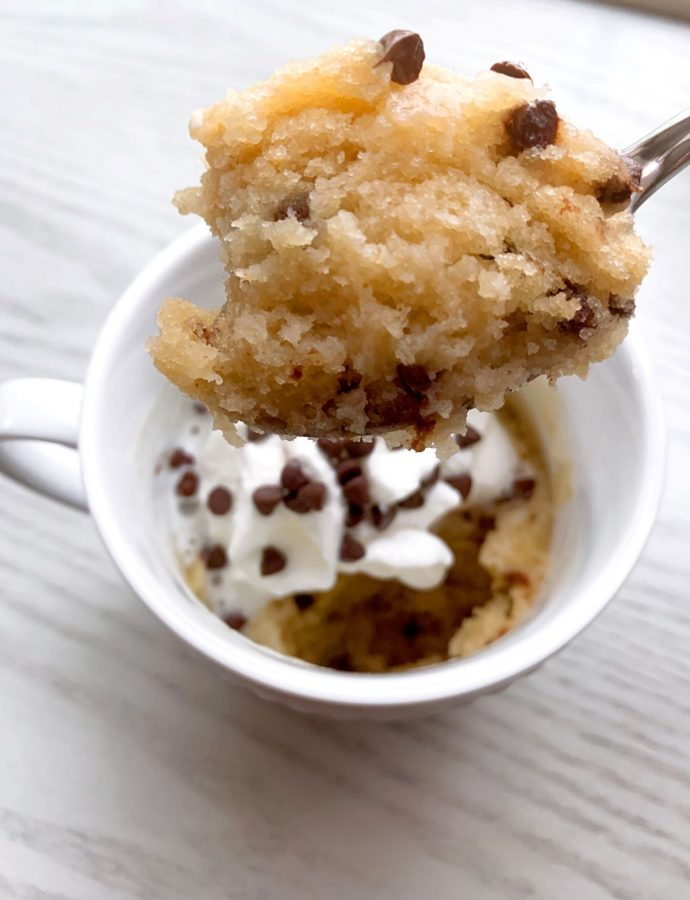 Peanut Butter Chocolate Chip Mug Cake {single serving}