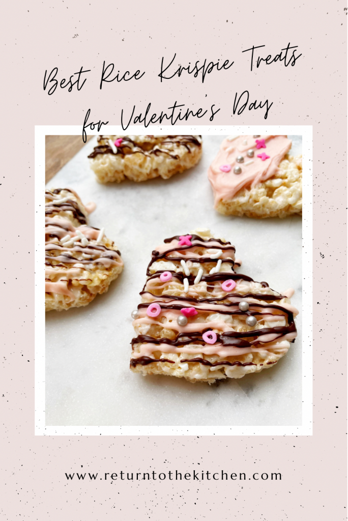 Close up of Best Rice Krispie Treats for Valentine's Day