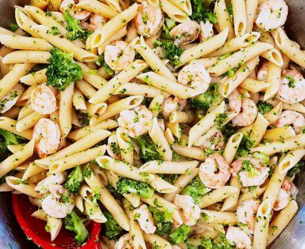 Lemon Butter Shrimp and Pasta