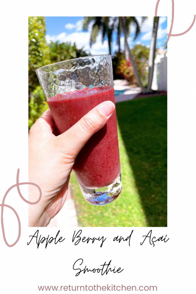 apple berry and acai smoothie
