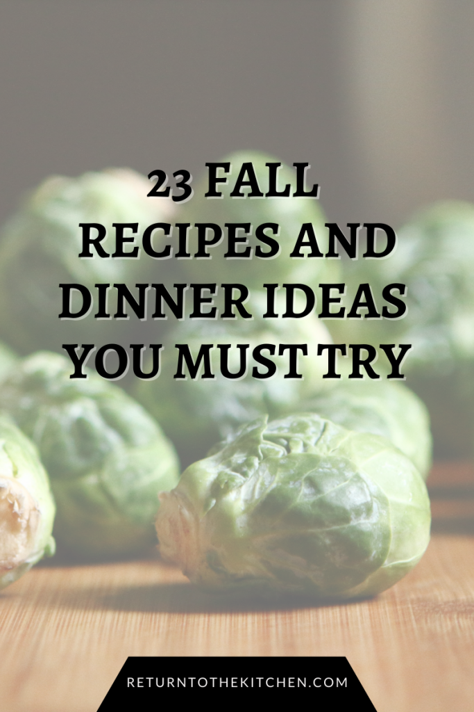 23 Fall Recipes and Dinner Ideas You Must Try