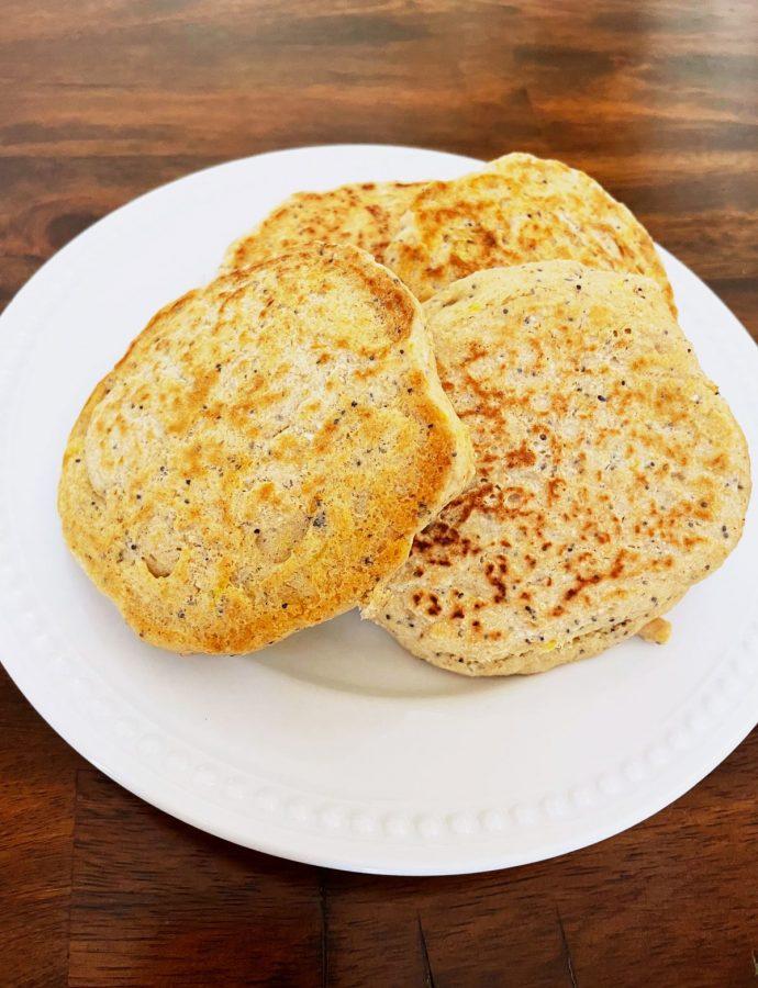 Gluten-Free Lemon Poppy Seed Pancakes {dairy-free & vegan}