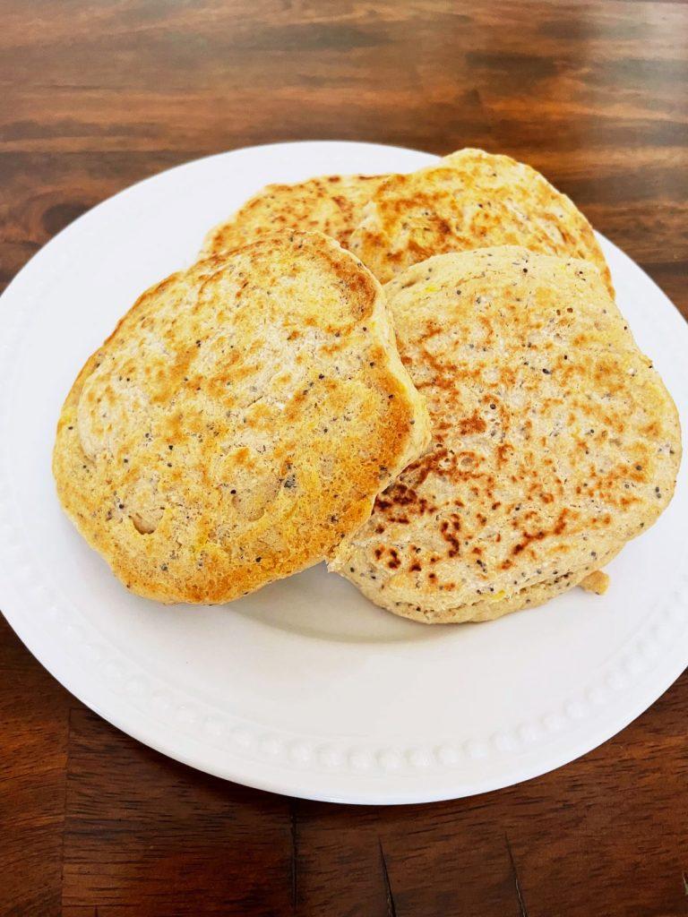 Gluten-Free Lemon Poppy Seed Pancakes