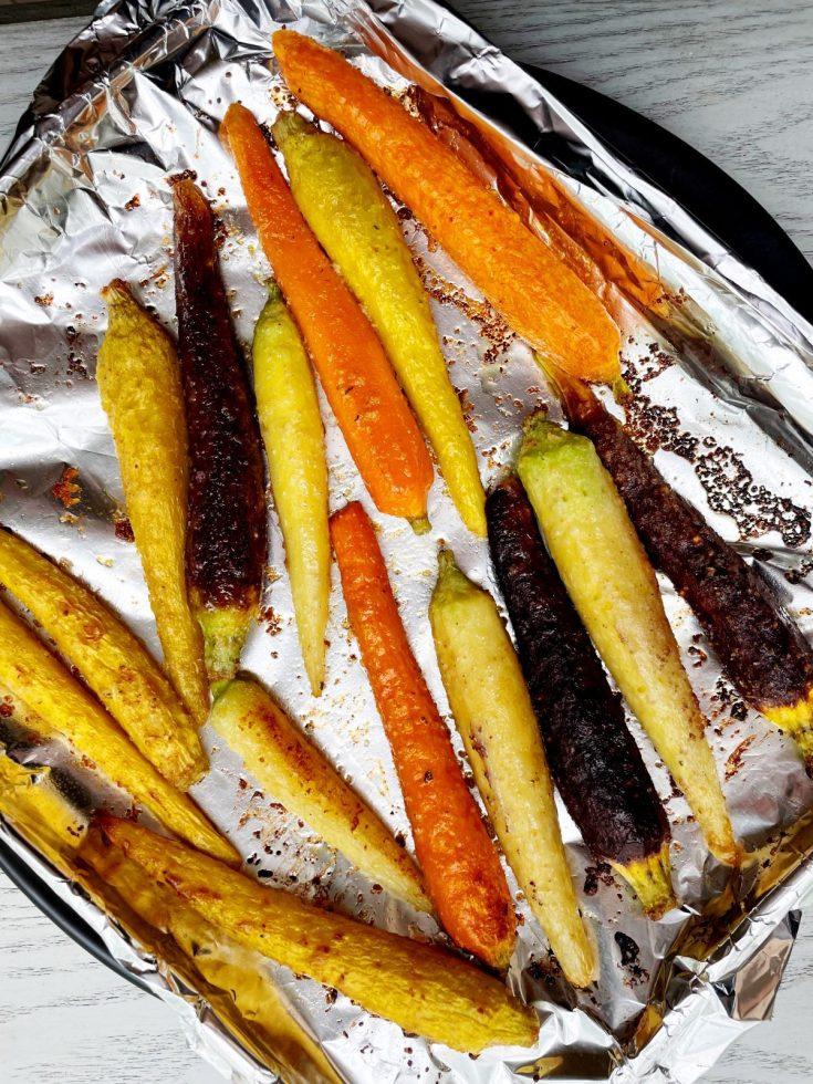 air fryer rainbow carrots